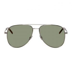 Saint Laurent Silver Classic 11 Folk Sunglasses