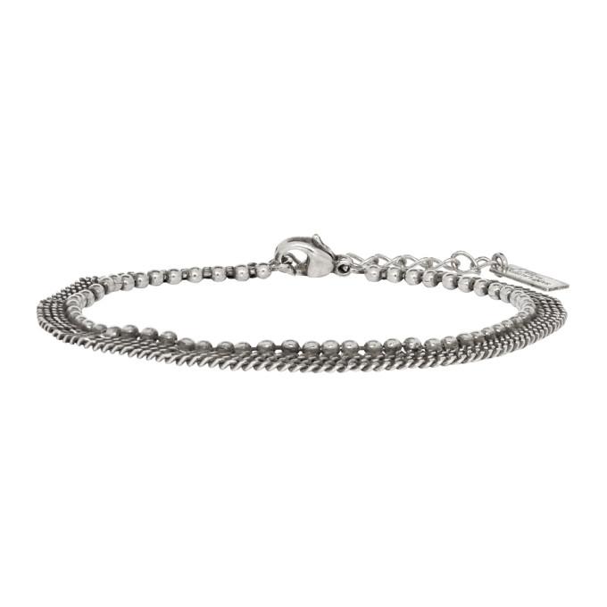 335cf480d02 Saint Laurent Silver Three-Row Bracelet   The Fashionisto