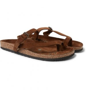 Saint Laurent - Suede Sandals - Men - Tan