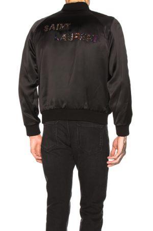 Saint Laurent Teddy Varsity Jacket in Black. - size 52 (also in 46,48,50)