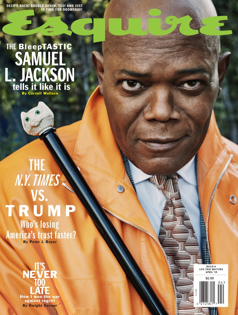 Samuel L. Jackson covers the April 2019 issue of Esquire.