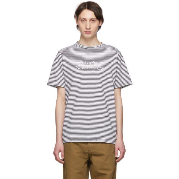 Saturdays NYC Black and White Brandon Miller Standard T-Shirt