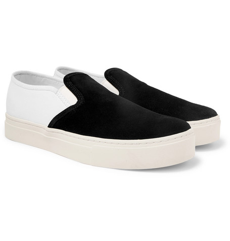 Saturdays NYC - Cotton-Canvas and Suede Slip-On Sneakers - Men - Black