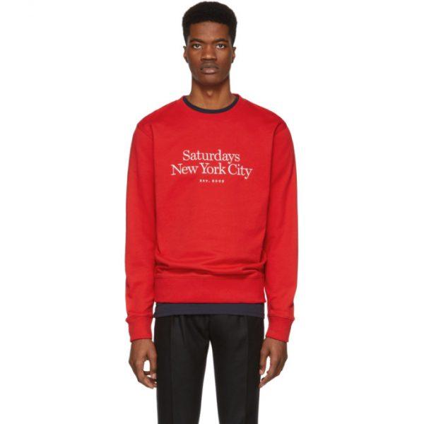 Saturdays NYC Red Miller Standard Bowery Sweatshirt