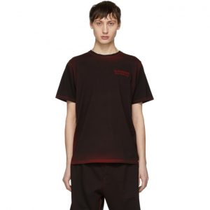 Saturdays NYC SSENSE Exclusive Black and Red Logo T-Shirt