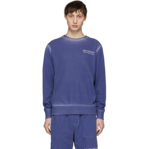 Saturdays NYC SSENSE Exclusive Blue Bowery Sweatshirt