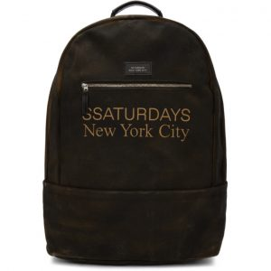 Saturdays NYC SSENSE Exclusive Brown Hannes Backpack