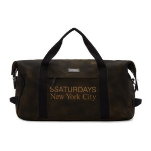 Saturdays NYC SSENSE Exclusive Brown Norfolk Hold-All Duffle Bag