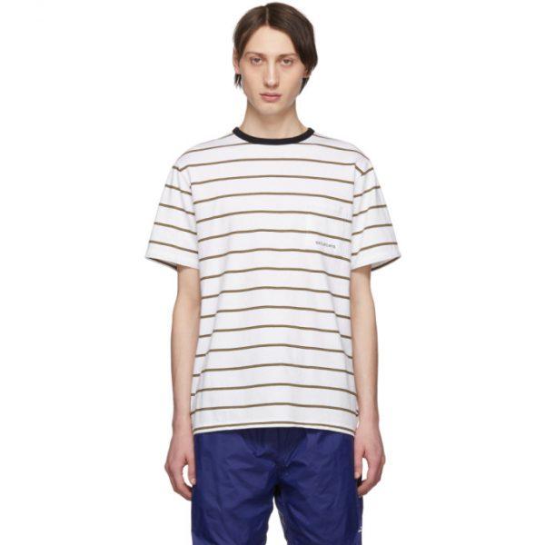 Saturdays NYC White Randall Stripe T-Shirt