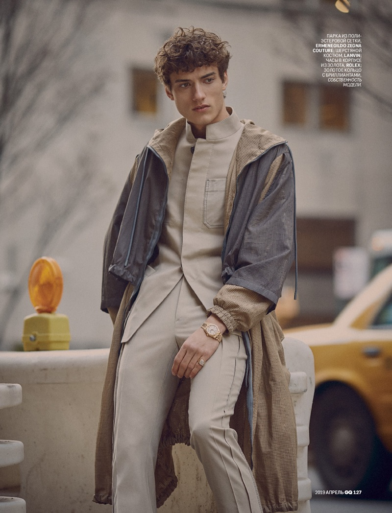 Serge Rigvava Tackles Sartorial Style for GQ Russia