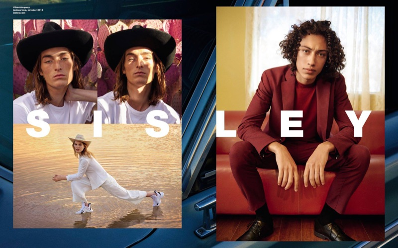 Ryan McGinley photographs Niko Traubman and Max Fieschi for Sisley's spring-summer 2019 campaign.