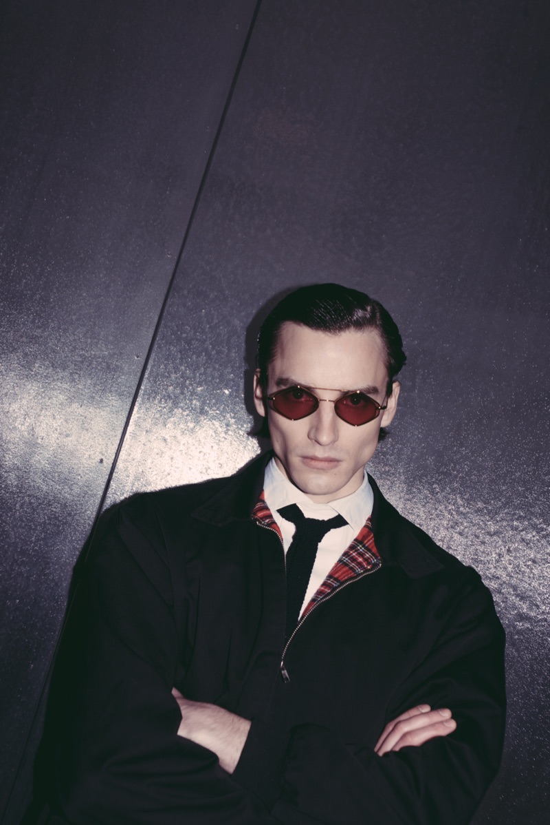 Tapping into 1960s-inspired style, Ignas Ra fronts Spektre's eyewear campaign.