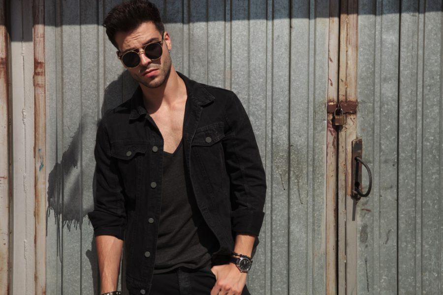 Stylish Male Model Black Clothes