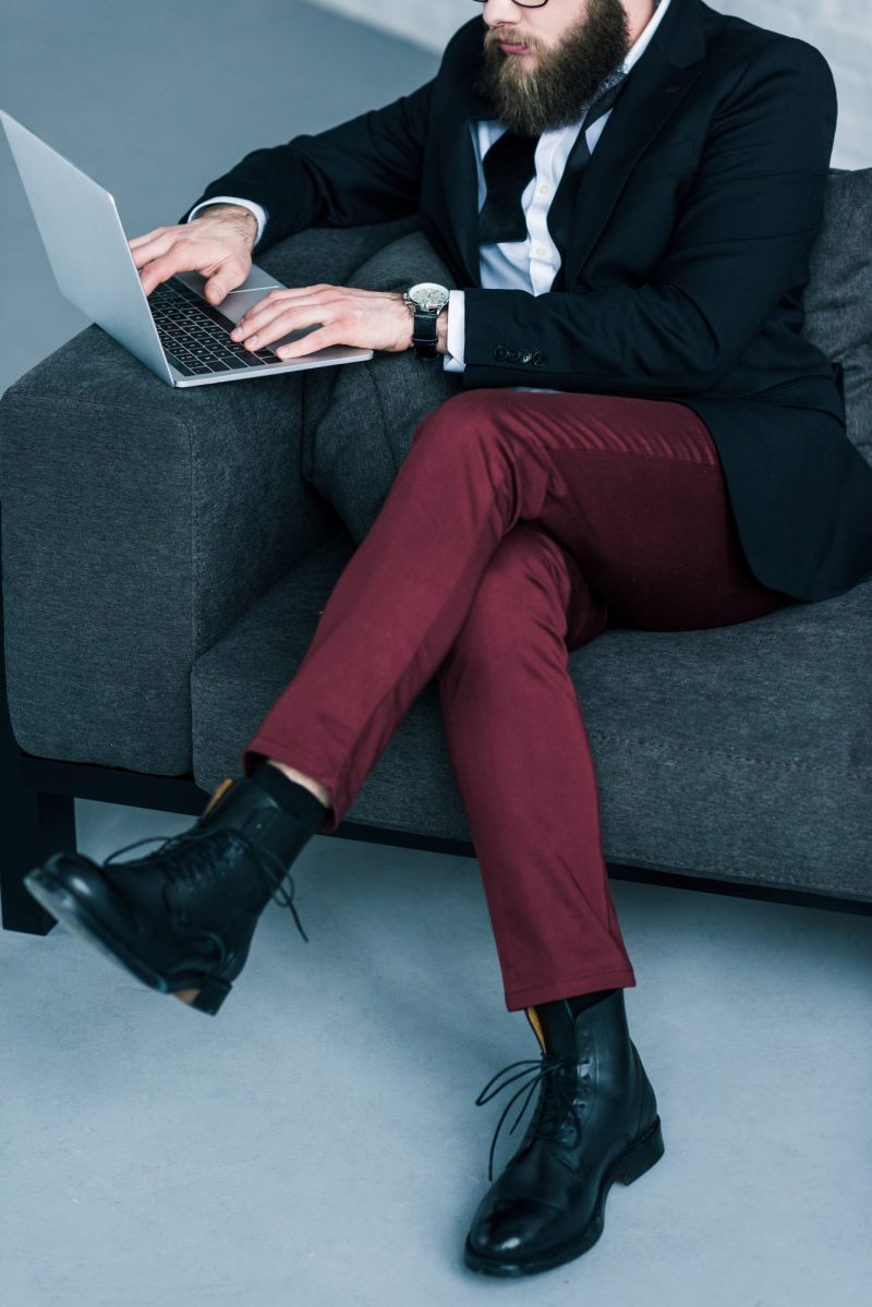 Stylish Man on Laptop