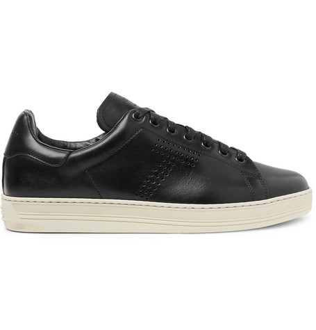 TOM FORD - Warwick Perforated Leather Sneakers - Men - Black