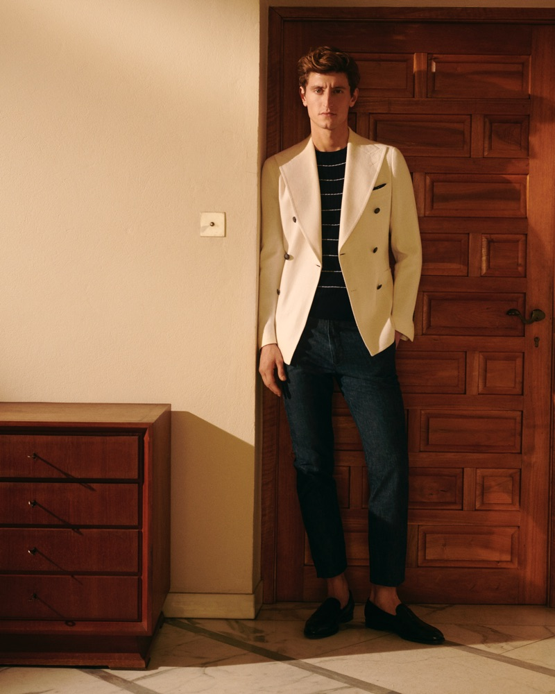 Tagliatore enlists Chris Beek as the star of its spring-summer 2019 campaign.