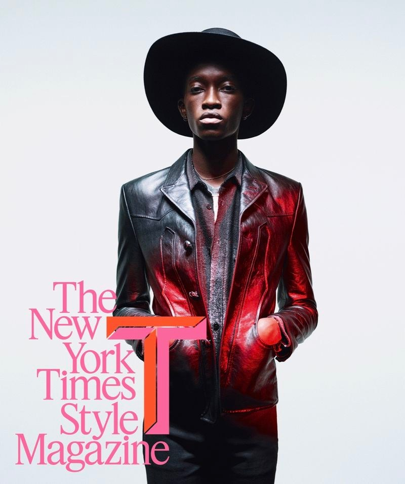 Cheikh Kebe covers The New York Times Style magazine.