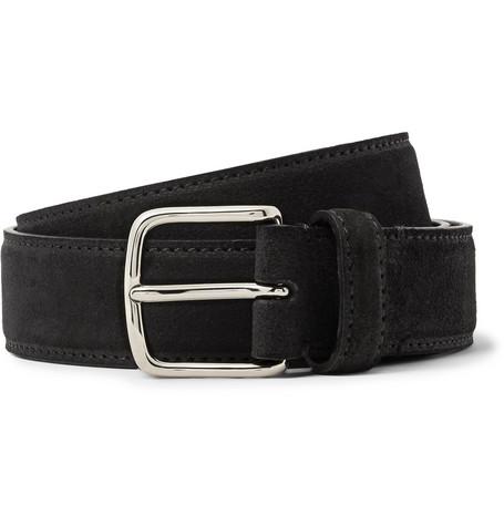 The Row - 3cm Black Suede Belt - Men - Black