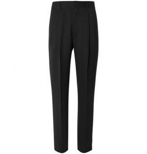 The Row - Black Eric Pleated Virgin Wool Trousers - Men - Black
