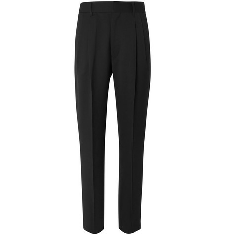 The Row - Black Eric Pleated Virgin Wool Trousers - Men - Black