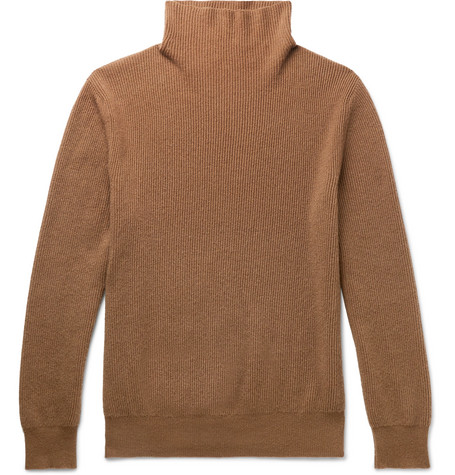 The Row - Daniel Ribbed Cashmere Rollneck Sweater - Men - Camel