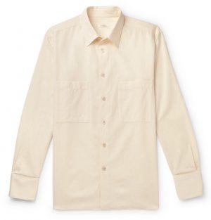 The Row - Gerald Cotton and Wool-Blend Shirt - Men - Cream