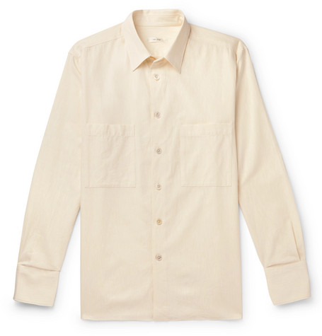 The Row - Gerald Cotton and Wool-Blend Shirt - Men - Cream