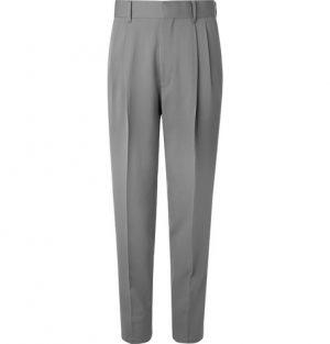 The Row - Grey Eric Pleated Virgin Wool Trousers - Men - Gray