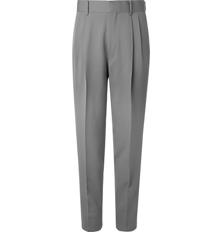 The Row - Grey Eric Pleated Virgin Wool Trousers - Men - Gray