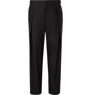 The Row - Jonathan Pleated Cotton Trousers - Men - Black