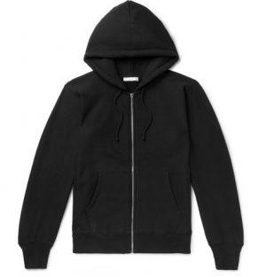 The Row - Loopback Cotton-Jersey Zip-Up Hoodie - Men - Black