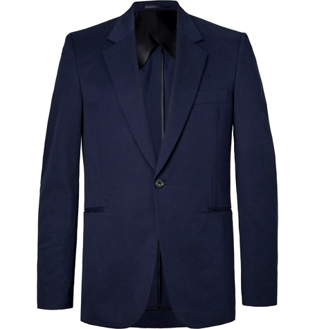 The Row - Navy Michel Slim-Fit Cotton and Cashmere-Blend Blazer - Men - Navy