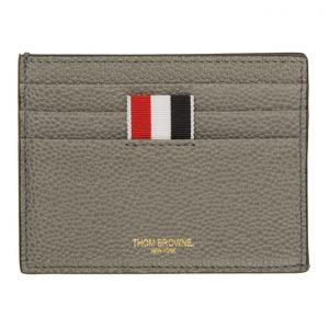 Thom Browne Grey 4-Bar Card Holder
