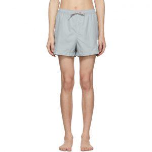 Thom Browne Grey Drawcord Waist Swim Shorts