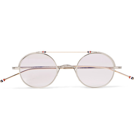 690a6d99c1c Thom Browne – Round-Frame Gold and Silver-Tone Optical Glasses – Men –  Silver