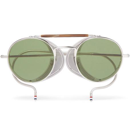 315b83753c9af Thom Browne – Round-Frame Metal Sunglasses – Men – Silver