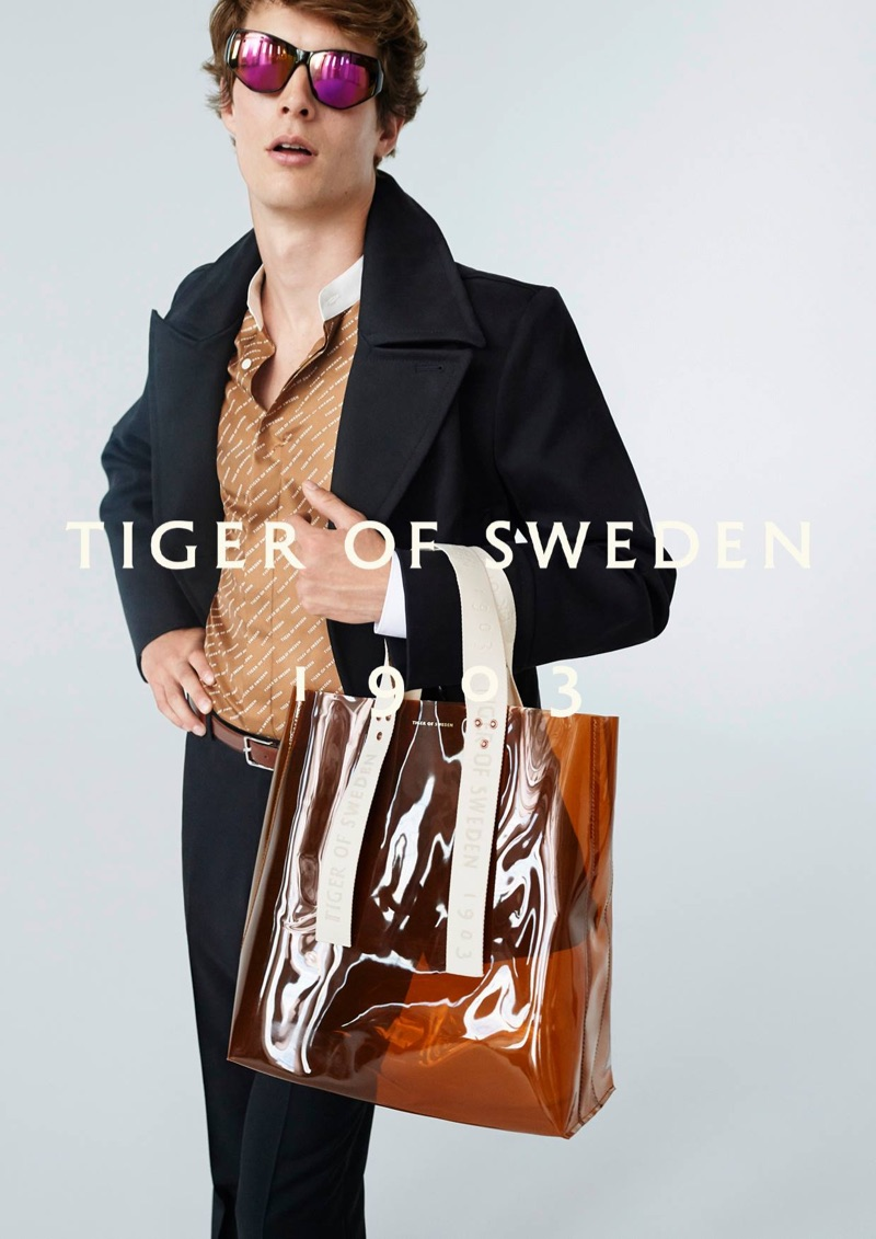 Felix Gesnouin fronts Tiger of Sweden's spring-summer 2019 campaign.