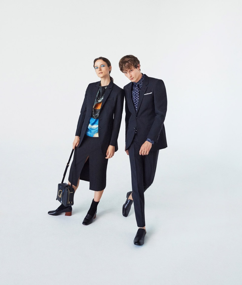 Tiger of Sweden enlists models Anna de Rijk and Felix Gesnouin as the stars of its spring-summer 2019 campaign.