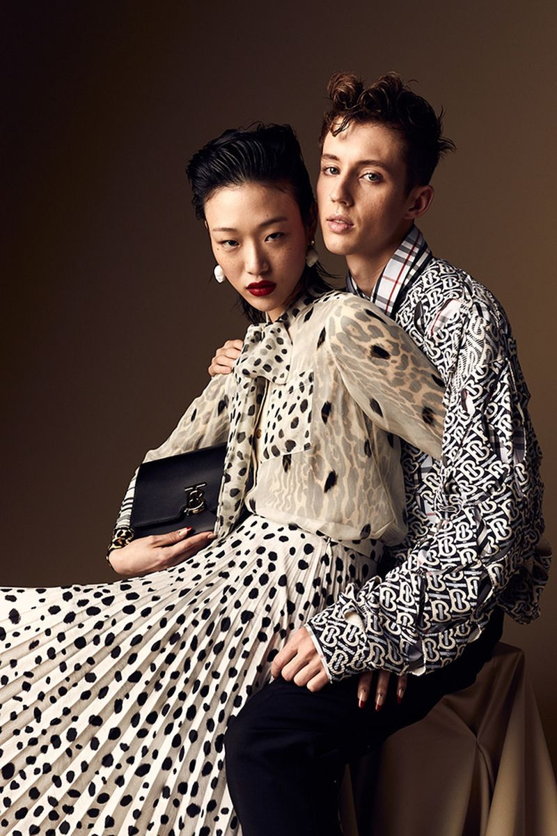 Sora Choi and Troye Sivan wear Burberry for the pages of W Korea.