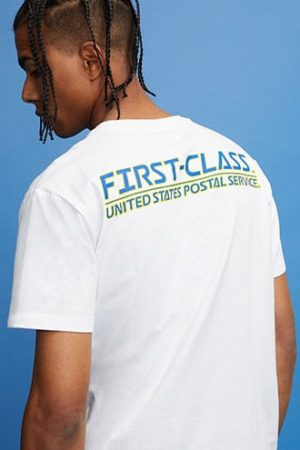 USPS Stamp Graphic Tee at Forever 21 White/blue