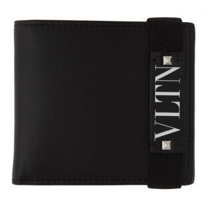 Valentino Black Valentino Garavani VLTN Bifold Wallet