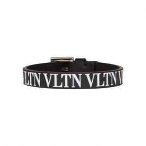 Valentino Black Valentino Garavani VLTN Bracelet