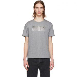 Valentino Grey and Silver VLTN T-Shirt