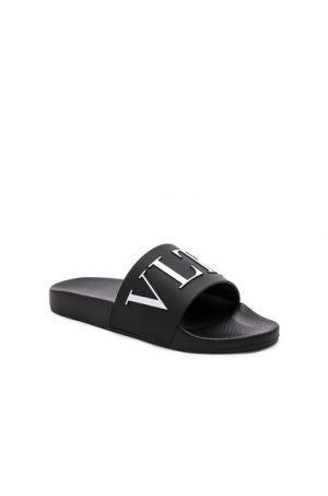 Valentino VLTN Logo Slide in Black. - size 44 (also in 40,41,42,43,45)