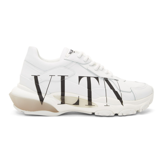 27192a5e20657 Valentino White Valentino Garavani VLTN Bounce Sneakers