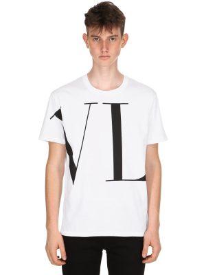 Vltn Logo Printed Jersey T-shirt