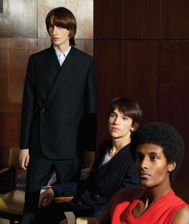 Benno Bulang, Kalib Besher & Eliseu Zimmer Don Tailoring for WSJ. Magazine