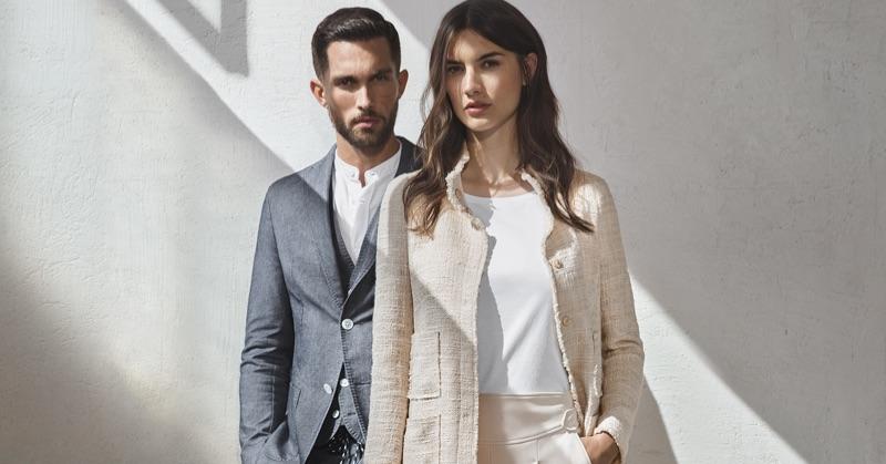 Models Tobias Sorensen and Ronja Furrer star in Windsor's spring-summer 2019 campaign.