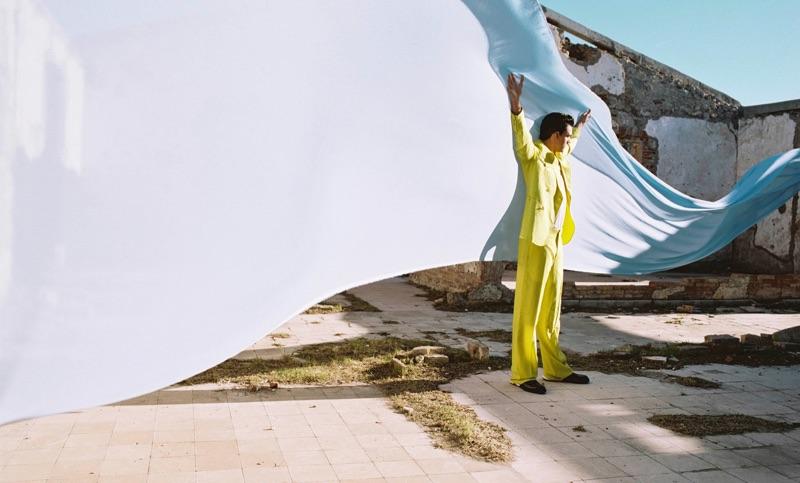 Xavier Serrano Dons Dior Men for Essential Homme Cover Story