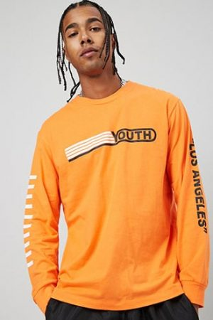 Youth Graphic Tee at Forever 21 Orange/black